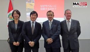 SUGIYAMA AKIKO, KOMATSU MASAMI, EMBAJADOR ELARD ESCALA y el representante de BID